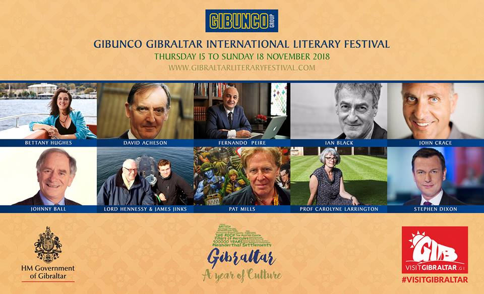First names for the Gibunco Gibraltar International Literary Festival. Image