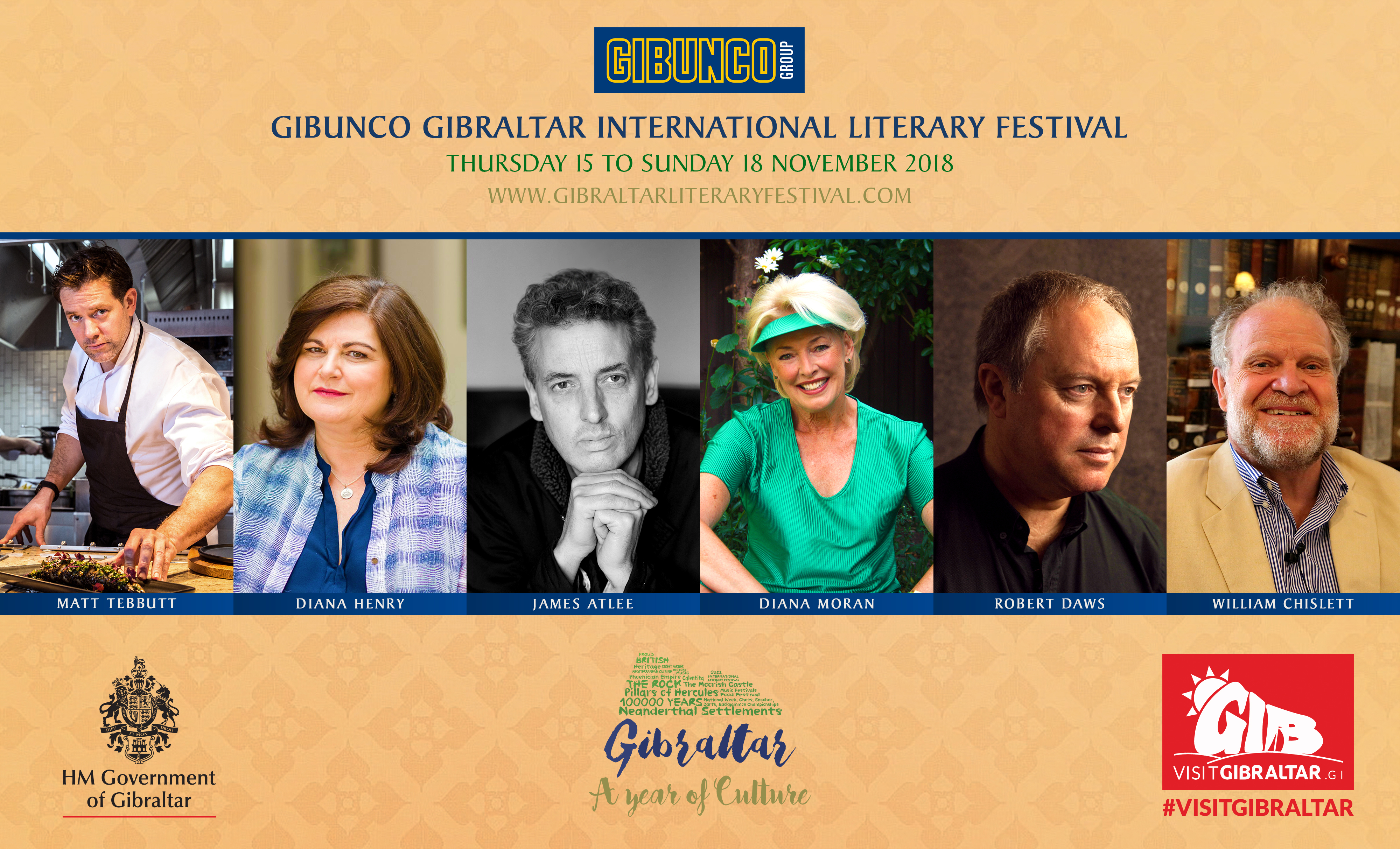 Two chefs join the line up as more names announced for the Gibunco Gibraltar International Literary Festival Image