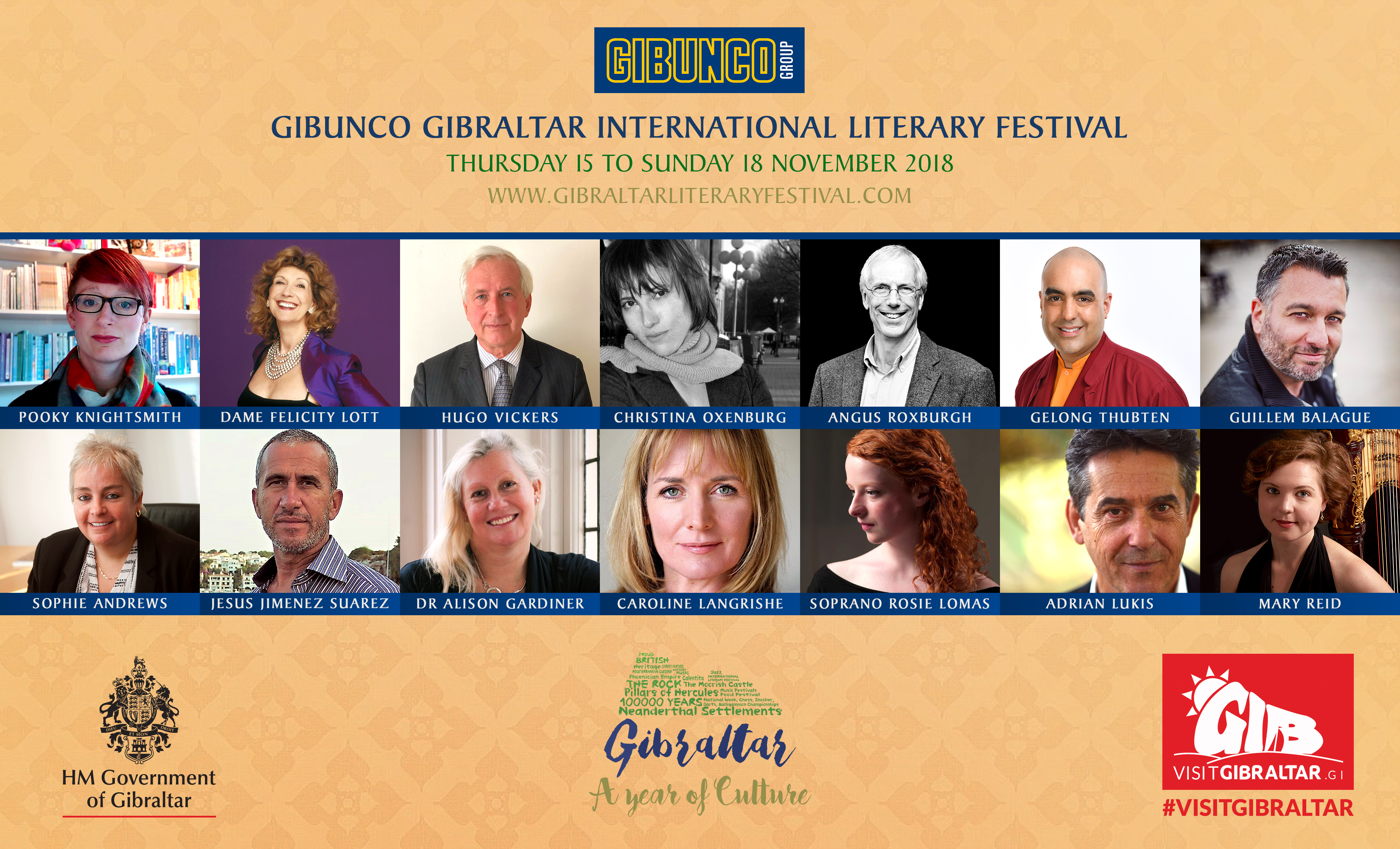 More for the 6th Gibunco Gibraltar International Literary  Festival Including a Musical Event  Image