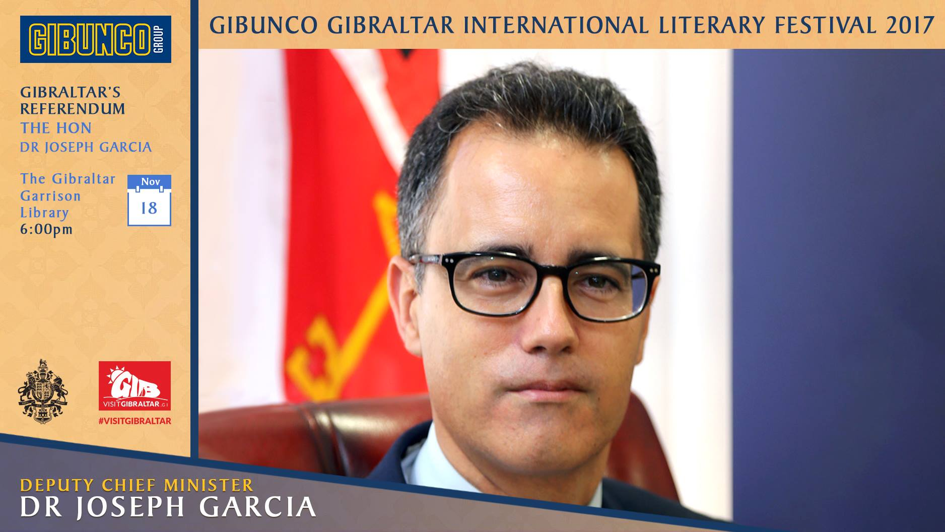 Dr Joseph Garcia to speak about the Referendum at Literary Festival  Image